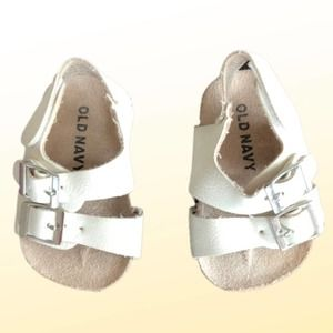 Old Navy White Birkenstock-style Sandal with Strap